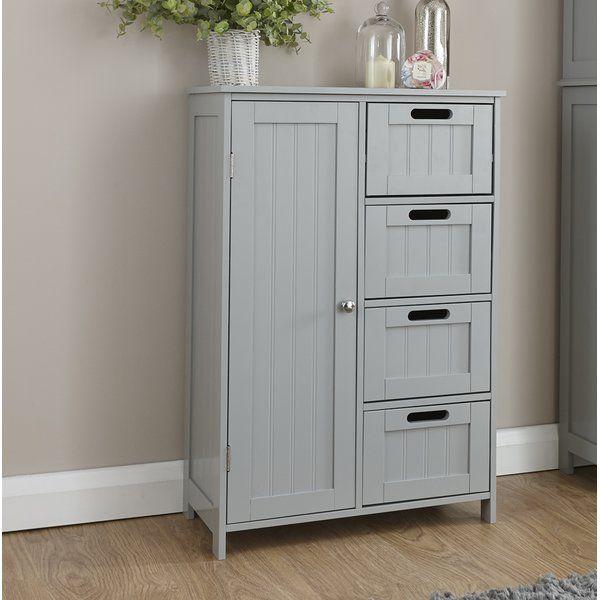 55x82cm Freestanding Cabinet Bathroom Standing Cabinet Wood