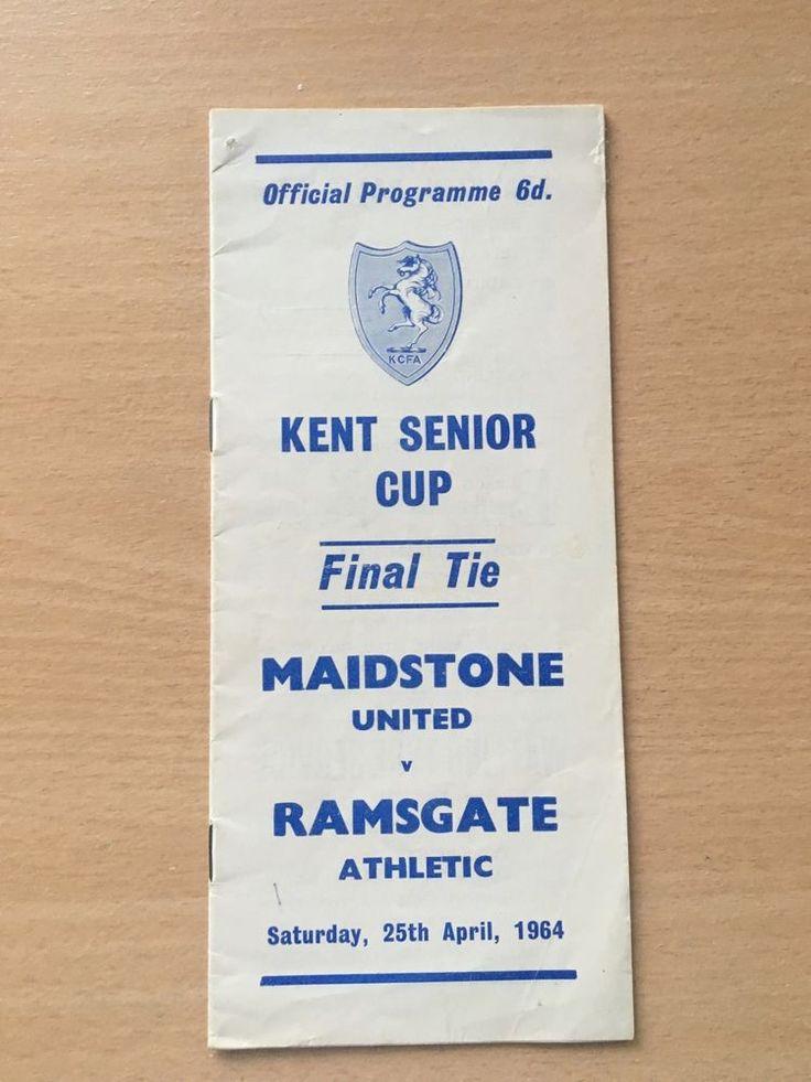 Maidstone United v Ramsgate Athletic Kent Senior Cup Final 1963/64