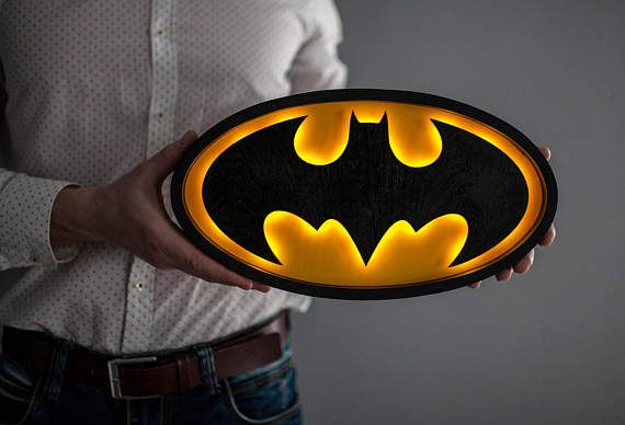 Batman Batman Night light  Gift for men Batman gift idea