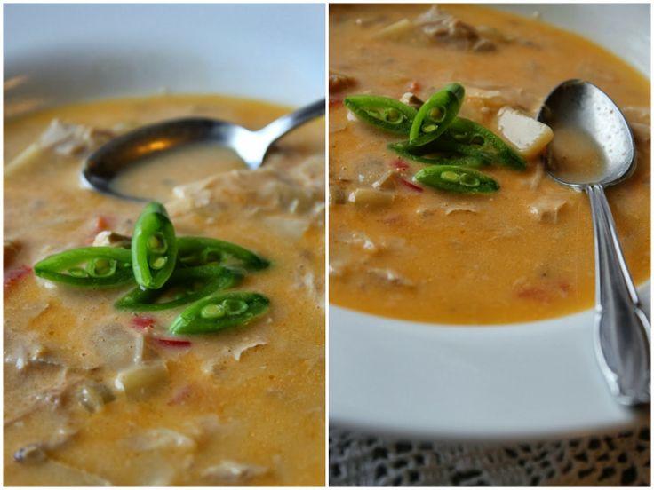 Currysuppe med kylling