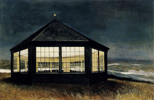 Andrew Wyeth 'Two if by Sea' 1995. Round House, an octagonal building Wyeth constructed: