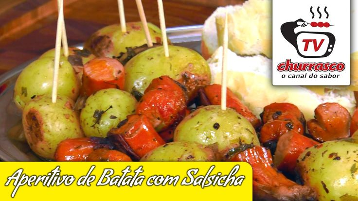 Receita de Aperitivo de Batata com Salsicha - Tv Churrasco