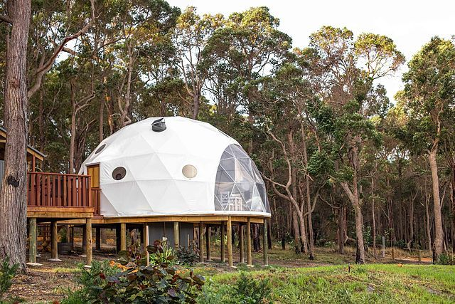 GLAMPING DOME GOALS: MILE END GLAMPING IN AUSTRALIA'S SOUTHWEST