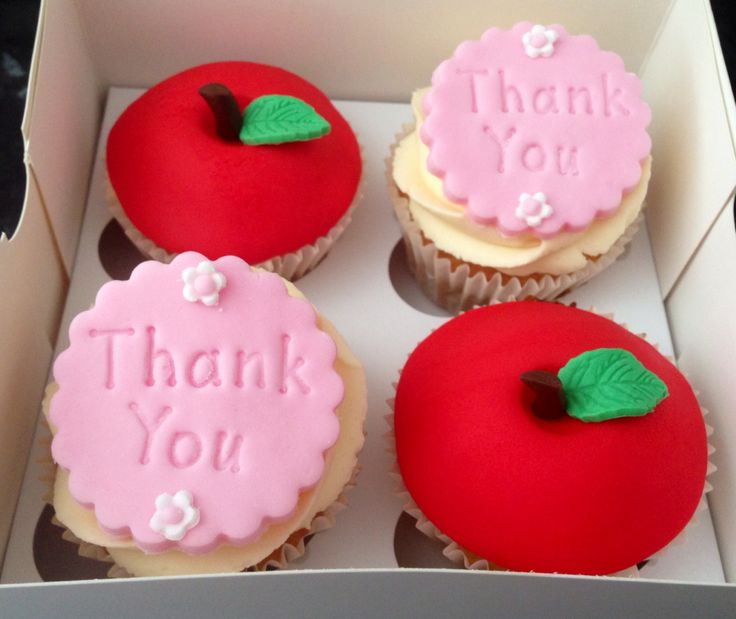 Teachers thank you cupcakes