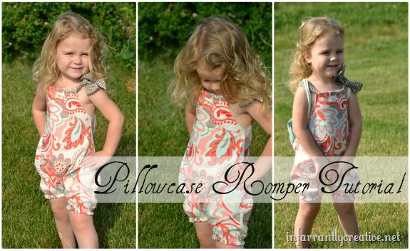 Pillowcase romper tutorial...I think I will try this for the girls. Cute and simple! Now I need some vintage pillowcases.