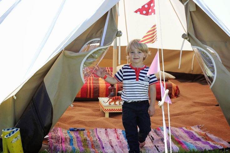 Mr A enjoying our amazing Bell Tent, glamping and outdoor fun. Toddler camping on the Welsh coast