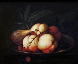 Date unknown - Aelst, van der Evert - Piatto Con Pesche, Uva E Fichi
