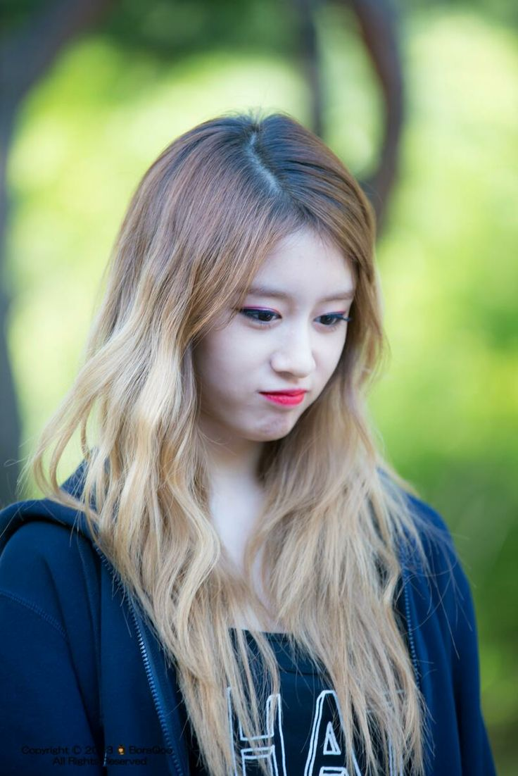 Jiyeon  ombre brown tan