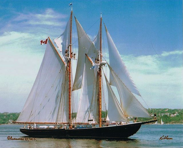 The Bluenose II is a replica of the original Bluenose Schooner - an iconic ship in Canadian history. Description from pinterest.com. I searched for this on bing.com/images