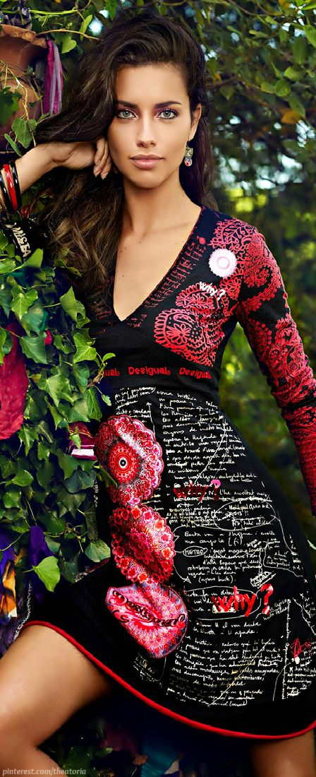 Adriana Lima ● Desigual FW 2014.15