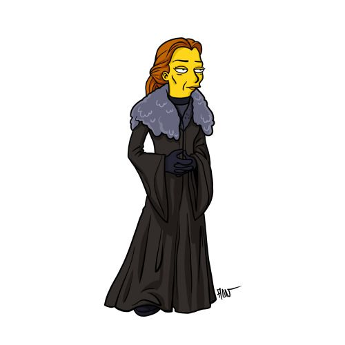 "Catelyn Stark from ""Game of Thrones"" / Simpsonized by ADN"