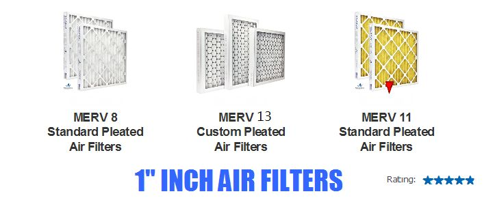 1 inch Air Filters - AC Filters and Furnace Filters