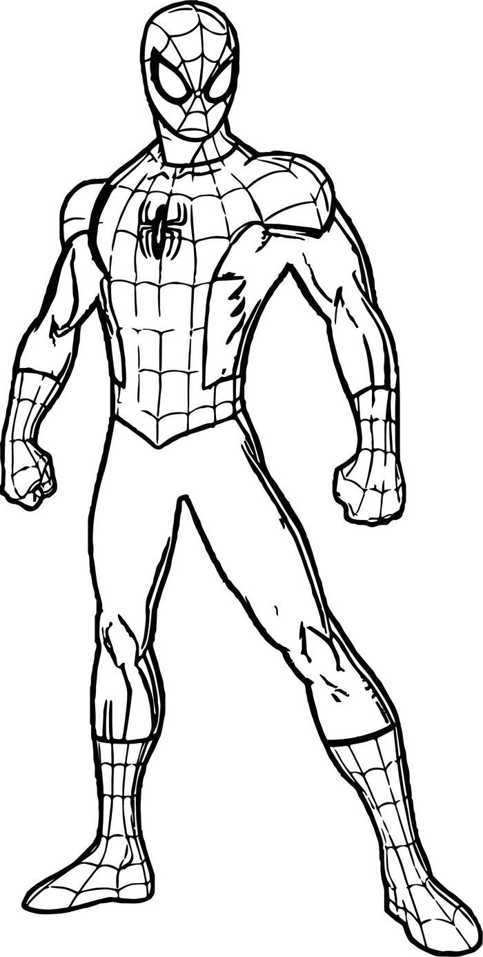 easy spiderman coloring pages from