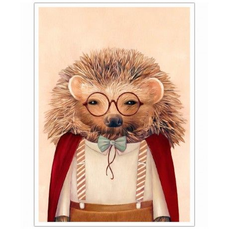 Hedgehog as Art Print by Animal Crew | Art. Everywhere.