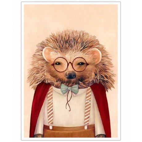 Hedgehog as Art Print by Animal Crew | Art. Everywhere.