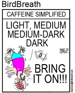 Caffeine Simplified!! #caffeine #coffee #cartoon #parrot