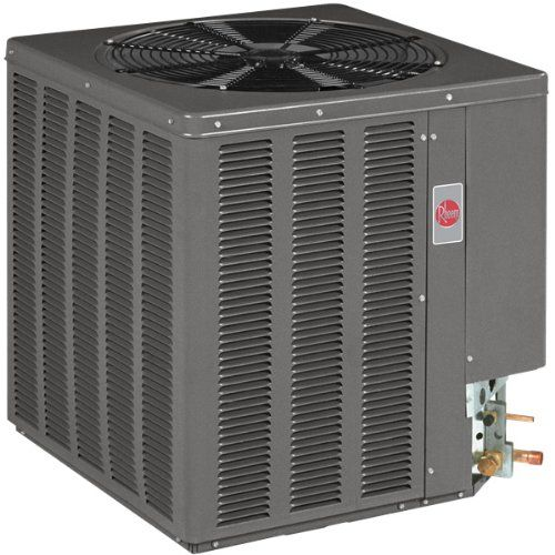 2.5 Ton 14.5 Seer Rheem / Ruud Air Conditioner - 14AJM30A01 Painted louvered steel cabinet.. Easily accessible control box.. Condenser coils constructed with copper tubing and enhanced aluminum fins.. Grille/Motor mount for quiet fan operation.. Filter Drier (shipped - not installed)..  #Rheem_/_Ruud #Home_Improvement