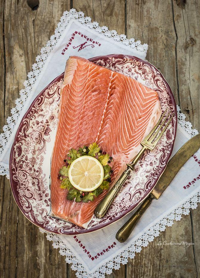 Cómo hacer salmón ahumando casero con sal | La Cucharina Mágica