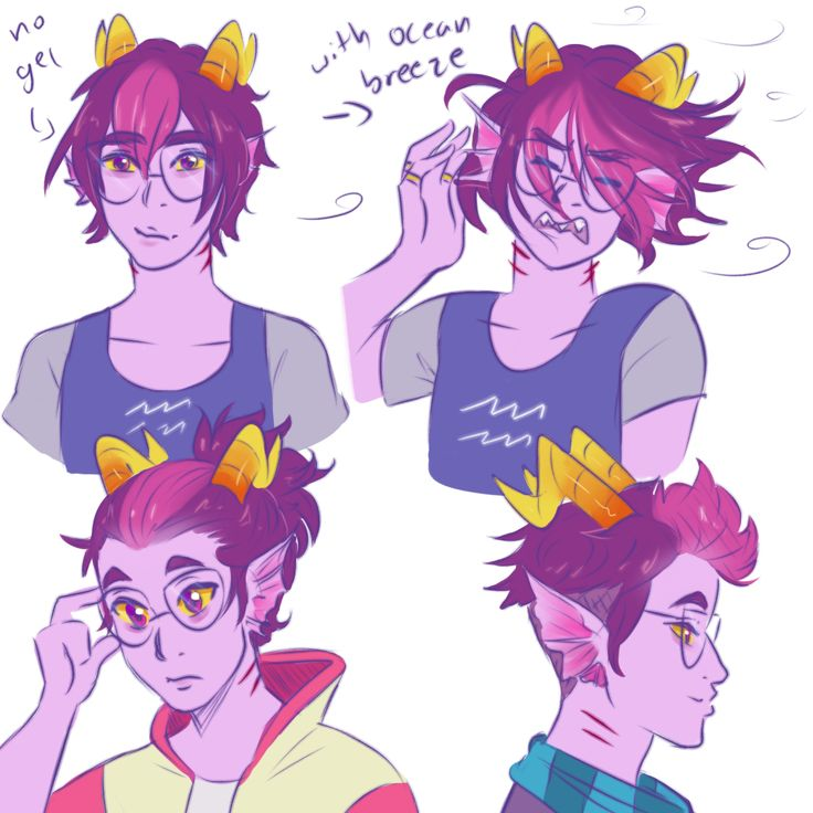 "lightingupthereef: ""some dan hair styles! i like the bottom right one for humanstuck designs """