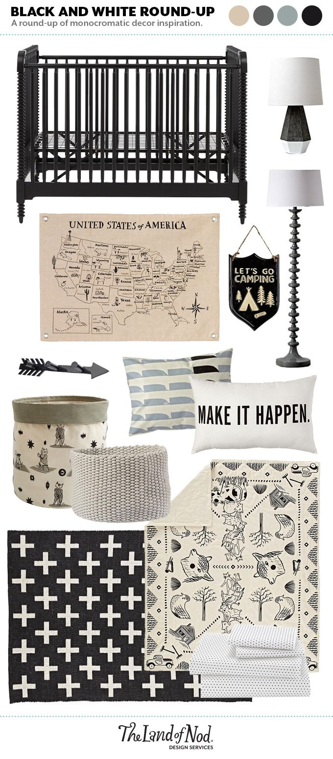 Shop Jenny Lind Crib (Black), Mason Table Lamp, Grand Canvas Map Banner, Camping Plaque, Jenny Lind Floor Lamp (Grey), That-a-Way Wall Hook (Black), Forest Etiquette Floor Bin, Kneatly Knit Medium Khaki Rope Bin, Animal Acres Baby Blanket, 4 x 6' Indoor Outdoor Rug (Black), Swiss Dot Toddler Sheet Set, Neutral Shapes Throw Pillow, Split Decision Throw Pillow and more