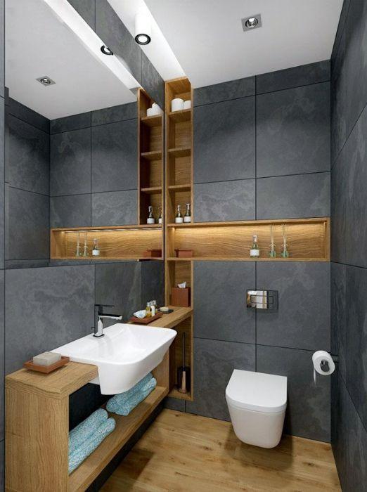 Ein Badezimmer in modernem Stil. – Owen Reid