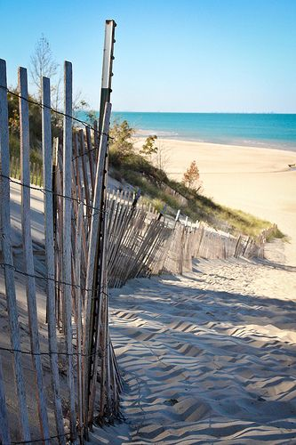 Indiana Dunes National Lakeshore, Indiana - (Chicago very faint on the horizon)