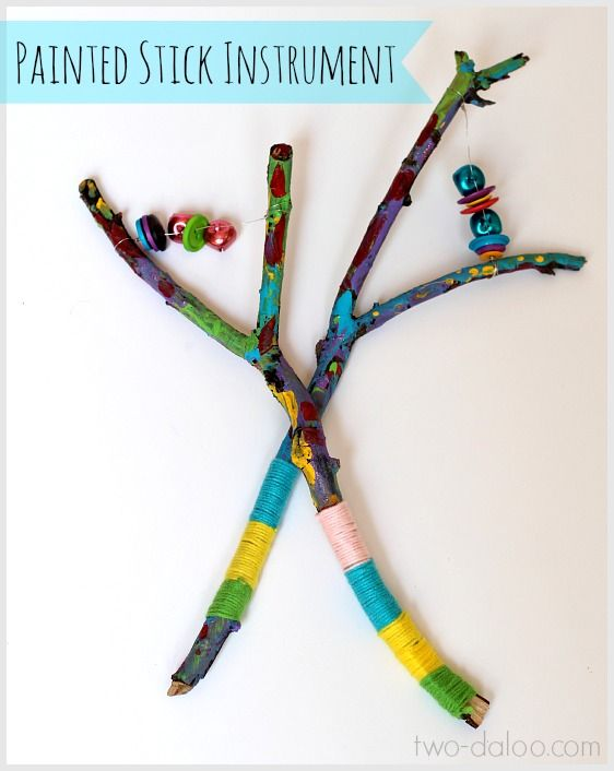 Learn how to make this beautiful painted stick instrument based on an Egyptian sistrum...a functional instrument and a work of art!