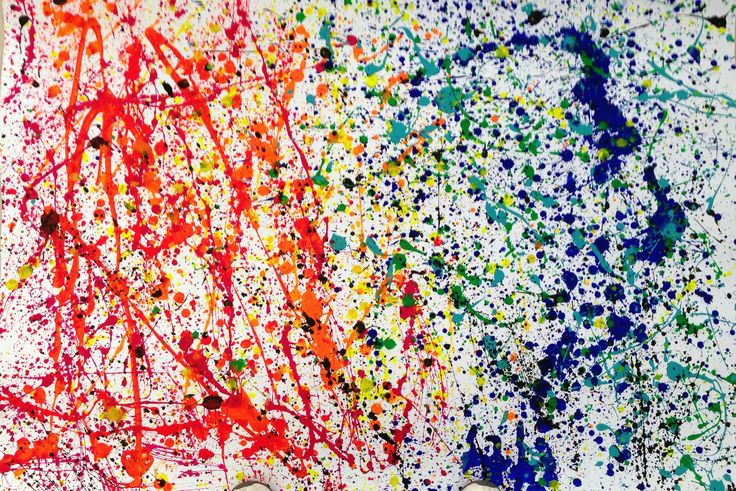 "Action painting!!!! ""The both sides of happiness"" ...by Maria Elisa Alvarez and Marielle Garcia de Alba"