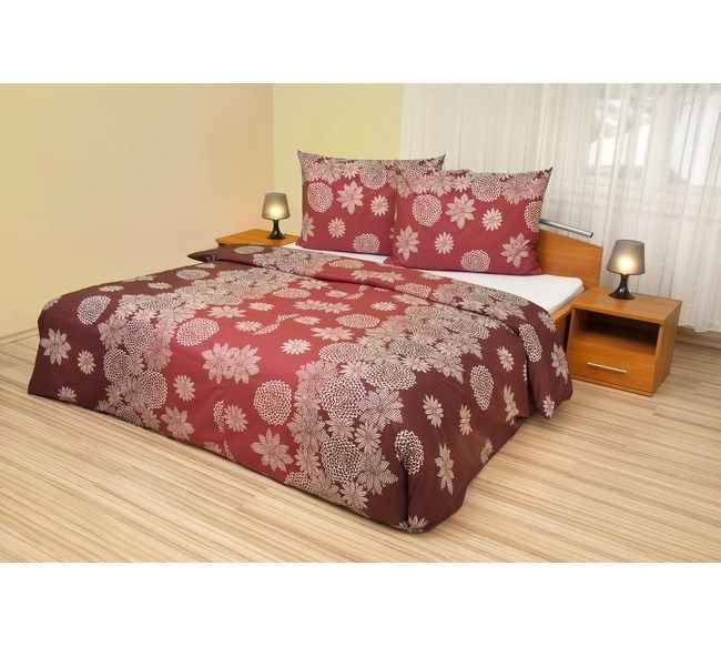 Kvalitex Bavlněné povlečení Vločky na vínovém, 240 x 200 cm, 2 ks 70 x 90 cm | 4Home - pohodlí domova