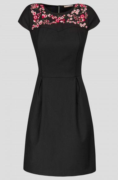 Hímzett A-vonalú ruha | ORSAY