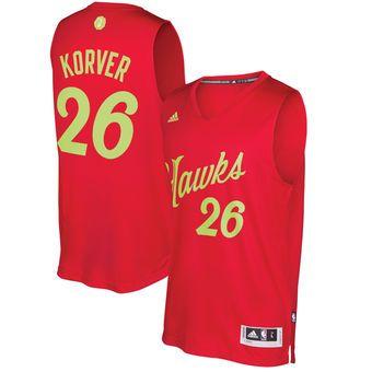 Men's Atlanta Hawks Kyle Korver adidas Red 2016 Christmas Day Swingman Jersey