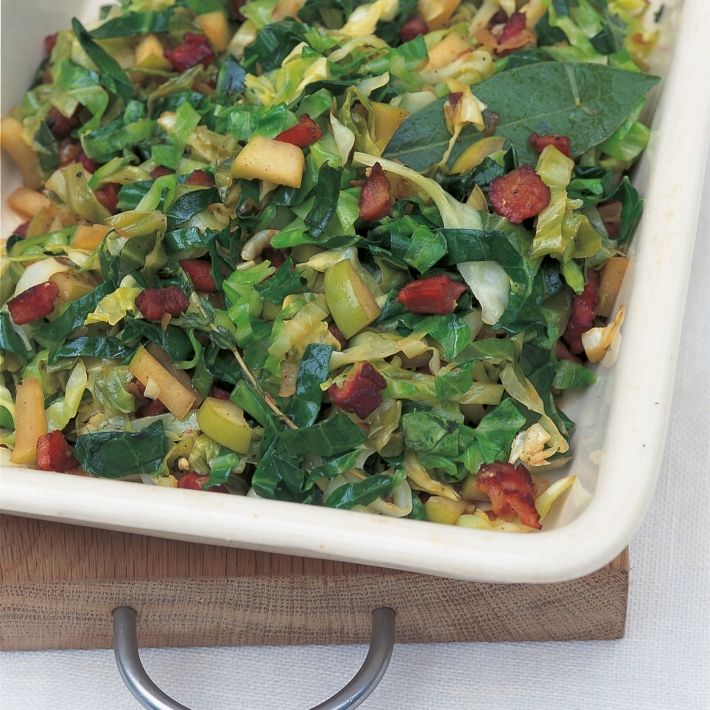Htc cabbage with bacon apples and cider