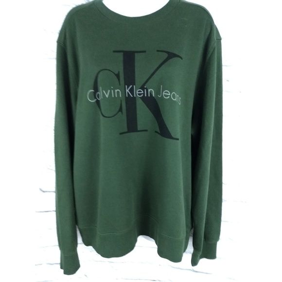 Vintage 90's Calvin Klein Spell Out Sweatshirt Big oversized