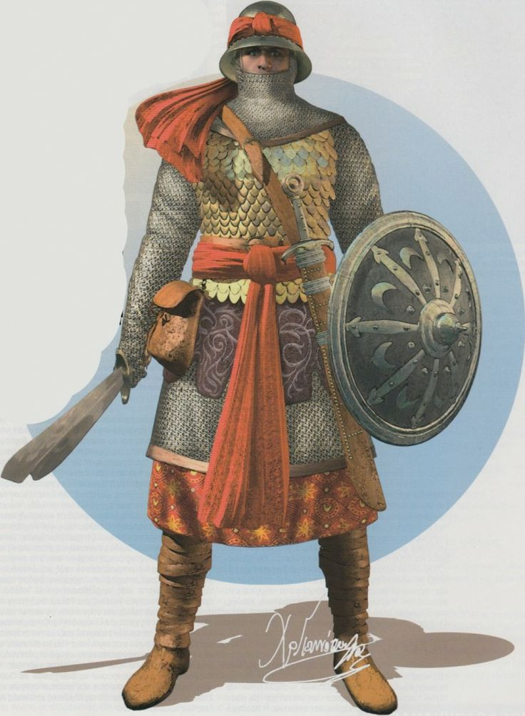 Artistic representation of an Andalusian Soldier (13th century)