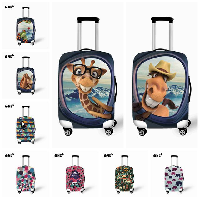 New 22 26 Inch Animal /Giraffe Travel Suitcase Luggage Protective Cover  With Storage Bag