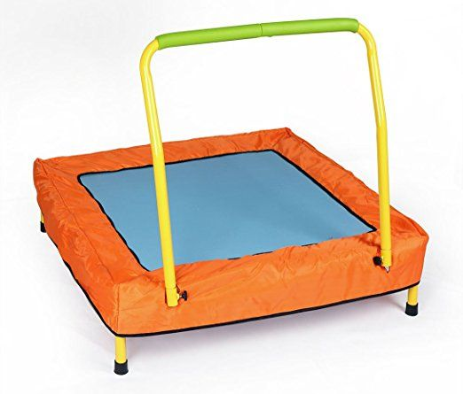 Nice Kids Folding Trampoline with Handle Bar and Carrying Case image
