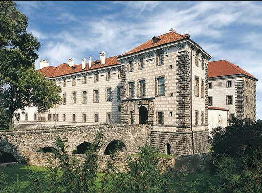 The castle in Nelahozeves, birth place of famous Czech composer Antonín Dvořák (Central Bohemia), Czechia