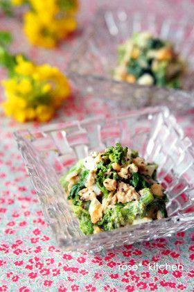 菜の花と卵のツナマヨ和え