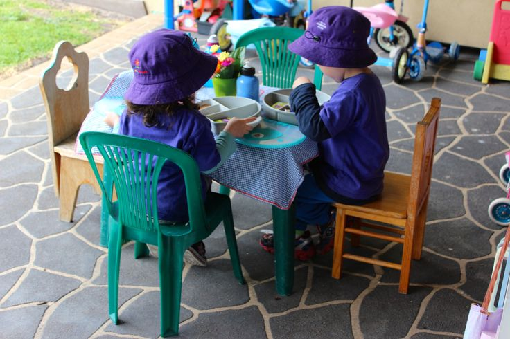 Family Day Care provides the perfect opportunity to dine alfresco complete with fresh flowers.