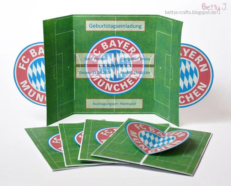 DIY Bayern Munich Birthday Invitation with simple video ...