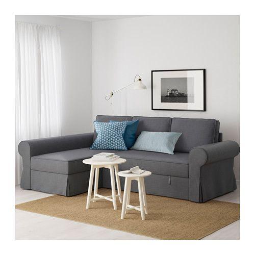 BACKABRO Convertible avec méridienne - -, Nordvalla gris foncé - IKEA