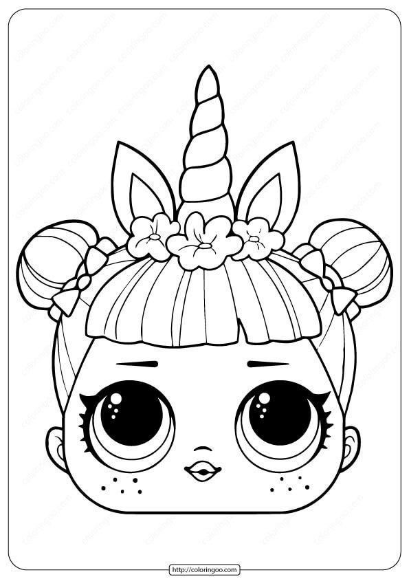 Lol Unicorn Coloring Page Youngandtae Com Unicorn Coloring Pages Unicorn Mask Doll Drawing