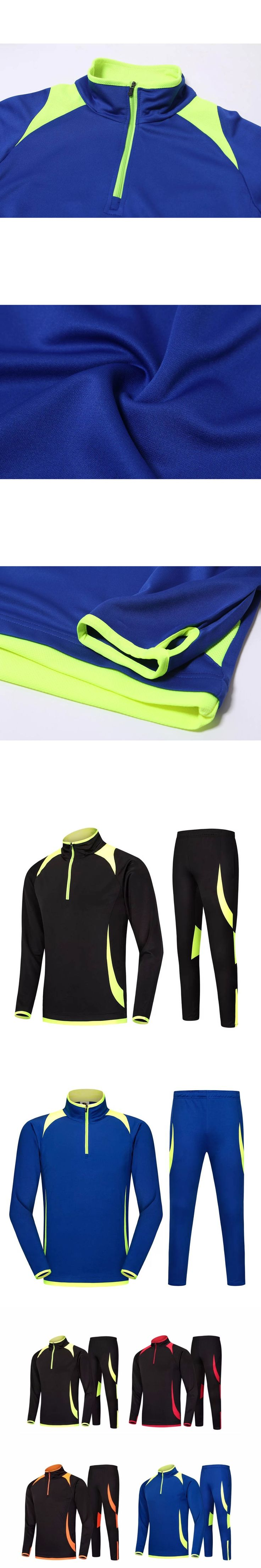 2016 Survetement football tracksuit sport training suit kits Soccer Chandal training shinny pants sweatershirt GY6501+GY6601