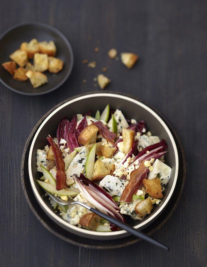 Salade paysanne aux endives et lard croustillant