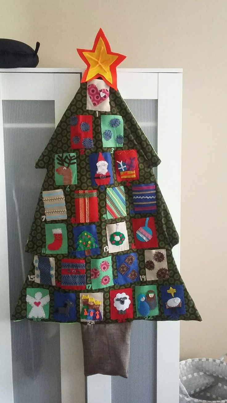 Felt advent calendar with tshwetshwe tree