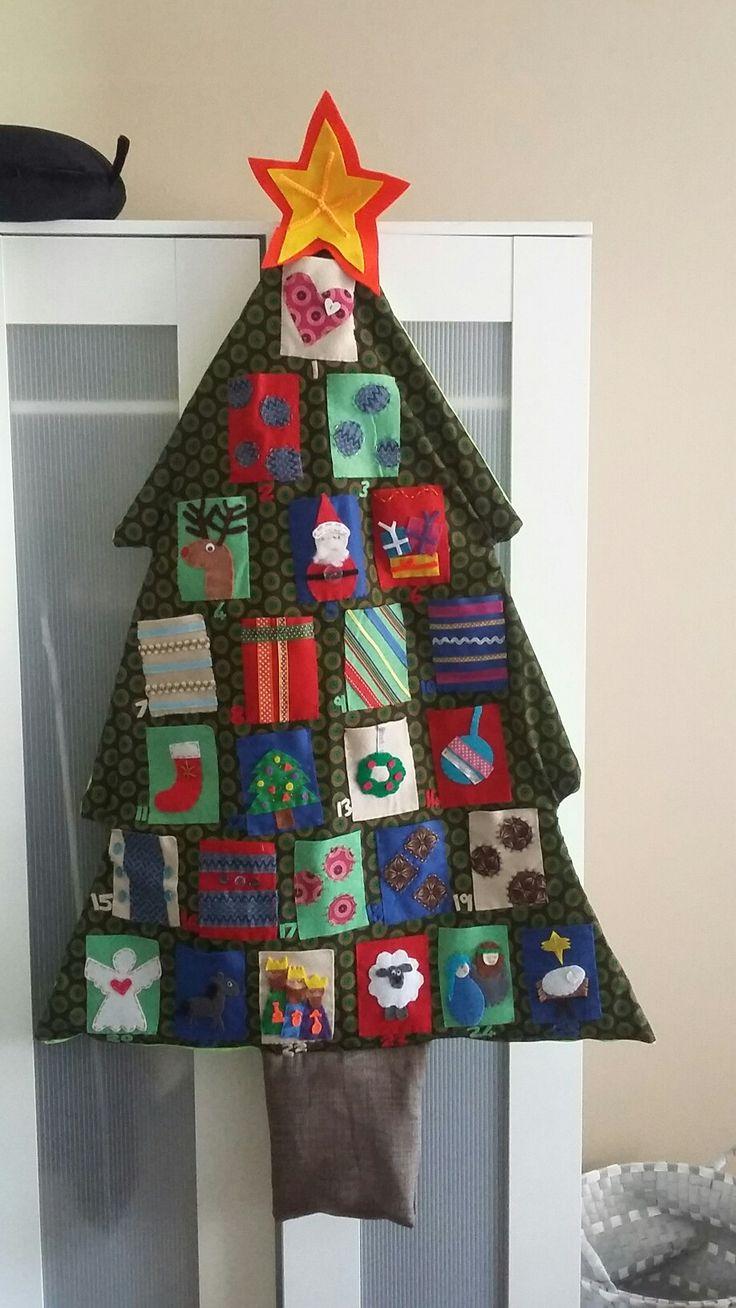 Felt advent calendar with tshwetshwe tree