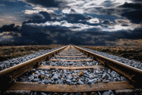Pin By Linda Gaddy On Arte By Me Railroad Track Photography Landscape Poster Railroad Photography
