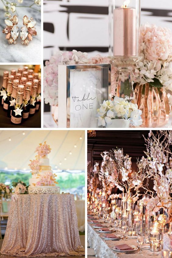 100 + Must Have Gold Color Palette to Wow Your Guests---gold and blush, wedding centerpieces, wedding bouquets, romantic and luxury wedding them