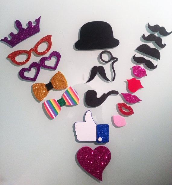 Pack de 20 accesorios para photocall por Marcosphotocall en Etsy, €10.00