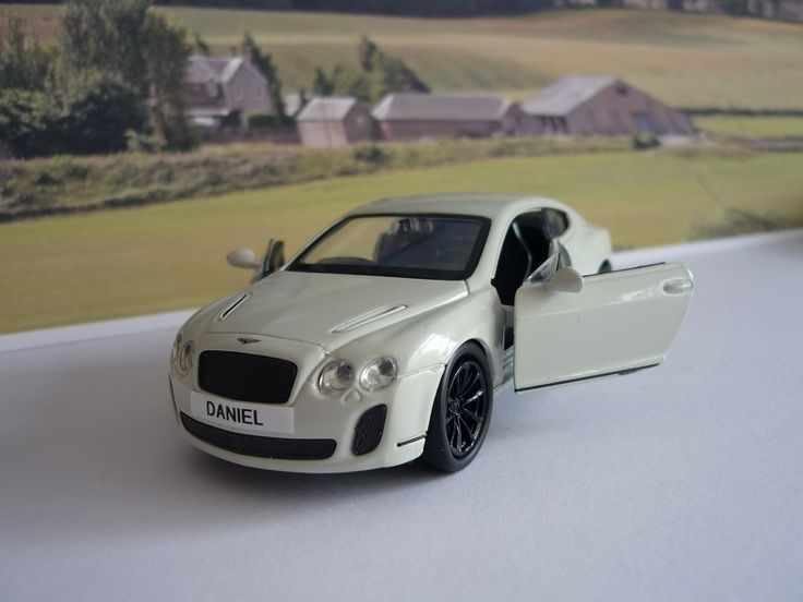 Personalised Plate White Bentley Continental Supersports